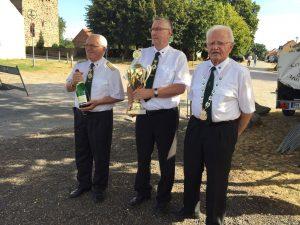 Mannschaftssieger im Armbrustschießen in Bardenitz-Pechüle am 03.09.2016