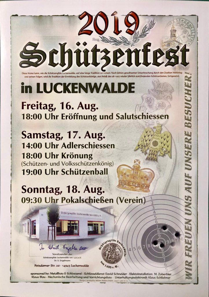 Plakat: Einladung zum Schützenfest